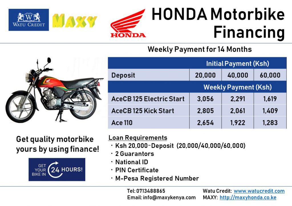 Motorbike Loan Nairobi Maxy Motorcycle